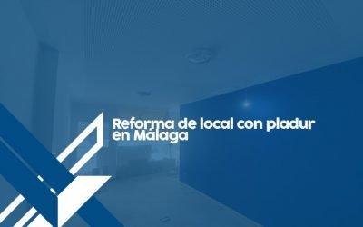 Reforma de local con Pladur en Málaga.