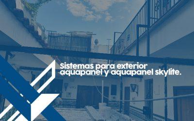 Sistemas para exterior aquapanel y aquapanel skylite